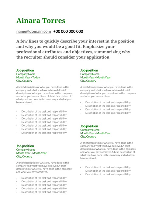free cv templates download word layouts for your curriculum vitae
