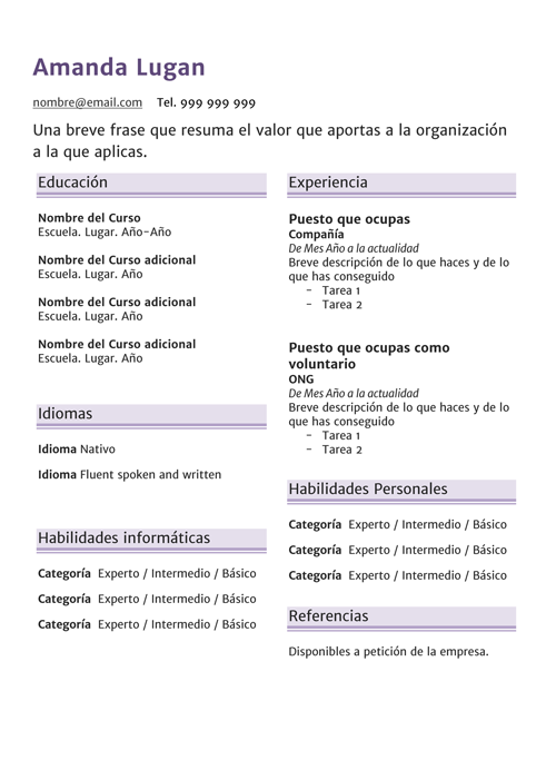 Puestos Junior Archives · Plantillas Gratis de CV