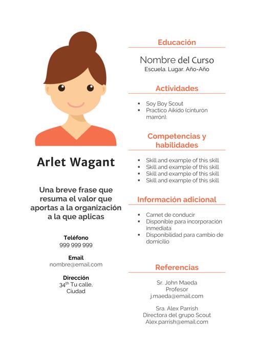Arlet Wagant Plantilla CV