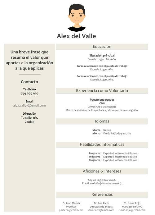 Plantilla de currículo - Alex del Valle