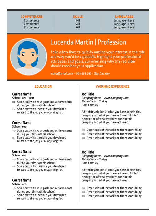 Lucenda Martin Resume Model