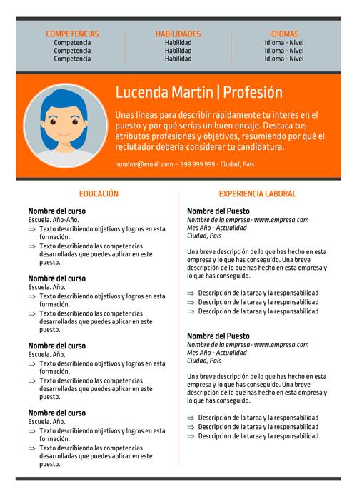 Lucenda Martin Modelo de Currículo
