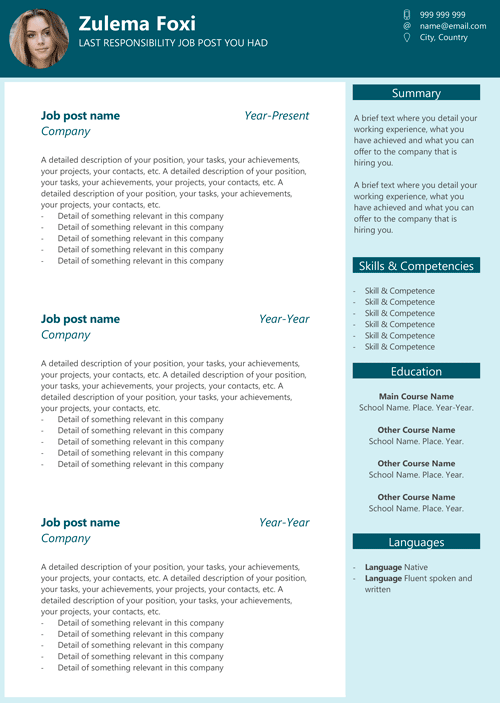Free Resume Template In Word 17 Ideascv